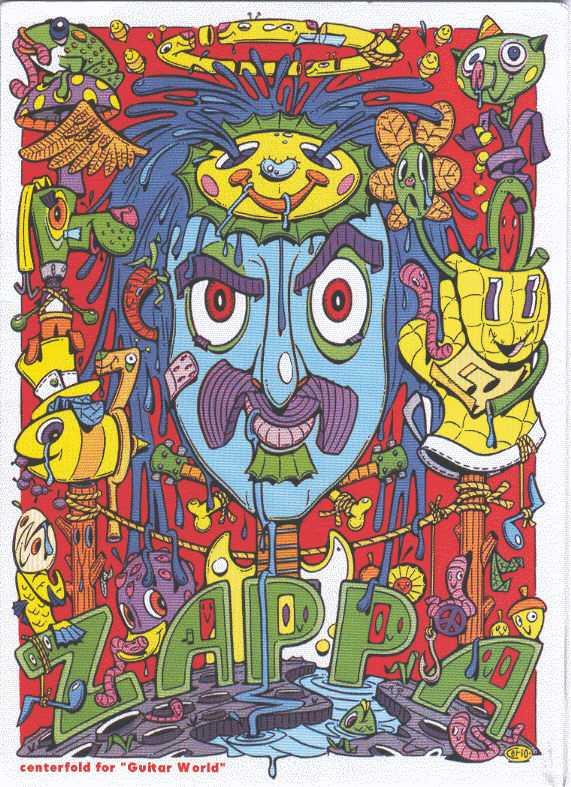 Steven Cerio Frank Zappa poster