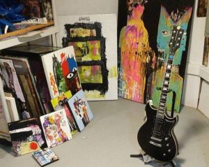 Paintings and guitar Paul Andress