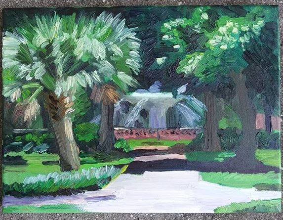 Forsythe park painting Phil Musen