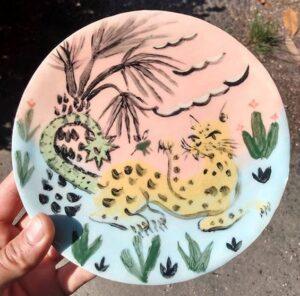 Leopard plate Phil Musen