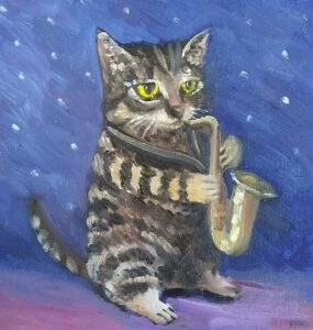 Saxophone Cat by Phil Musen
